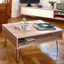 Table basse 89x67X42,2 cm naturel - EDISON