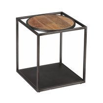 Bout de canapé en bois et métal - DALBERGIA