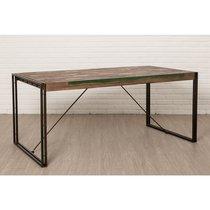 Table repas 180 cm en teck recyclé - TUNDRA