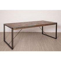 Table repas 220 cm en teck recyclé - TUNDRA