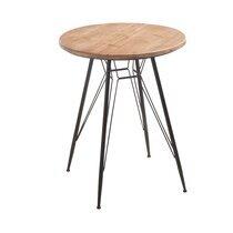 Table bistrot 64,5 cm en bois et métal - ATELIER METAL