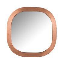 Miroir carré 61 cm en bois cuivré