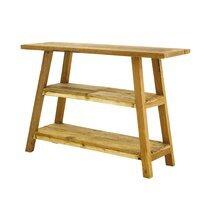 Console 106 cm 3 niveaux en bois massif naturel