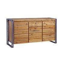 Bahut 3 portes et 1 tiroir en bois recyclé et métal - MULGA
