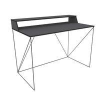 Bureau 120 cm en métal gris et noir - IRON