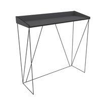 Console 100 cm en métal gris et noir - IRON