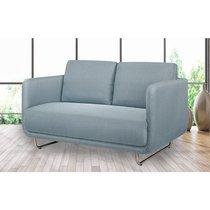 Canapé 2 places fixe en tissu bleu - SUMMER