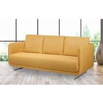 Canapé 3 places fixe en tissu jaune - SUMMER