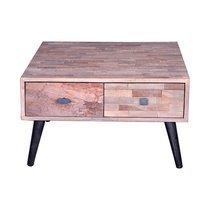 Table basse carrée 65 cm en teck recyclé - Quadro