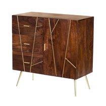 Buffet 1 porte et 3 tiroirs 85x35x85 cm en bois - Milano
