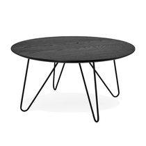 Table basse ronde 80x80x40 cm en bois et métal no