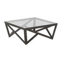 Table basse 85cm en verre et bois - San Diego