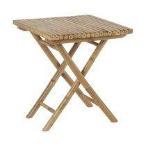 Table d'appoint carrée 50 cm en bambou