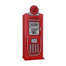 Armoire pompe à essence 50x40x141 cm rouge - CARINO