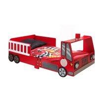 Lit camion de pompier 70x140 cm rouge - FIRE