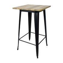 Table de bar carrée 60 cm en bois et métal - ARTY
