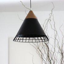 Suspension 32x32x31 cm en liège et métal noir