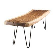 Banc 141x45x44 cm en bois de mungur naturel