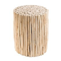 Table d'appoint ronde 34 cm en teck naturel