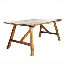 Table à manger 180x90x75 cm en bois recyclé et métal