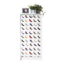 Meuble à chaussures blanc avec décor escarpins 120 cm