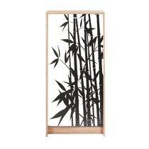 Meuble à chaussures chêne avec décor bamboo noir 120 cm