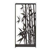 Meuble à chaussures noir avec décor bamboo noir 120 cm