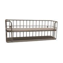 Etagère à susprendre 75x18x28 cm en métal et bois