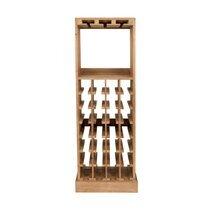 Meuble range-bouteilles 43,5x31,5x118,5 cm en sapin massif