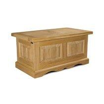 Table basse coffre 100x55x48 cm en chêne clair - HELENE