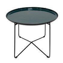 Table d'appoint ronde 61 cm en métal et plateau plateau