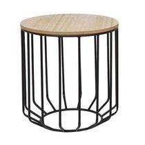 Table d'appoint ronde 40x40x43 cm en bois et métal