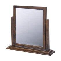 Miroir pour coiffeuse 60x15x60 cm en pin foncé - GUVEN