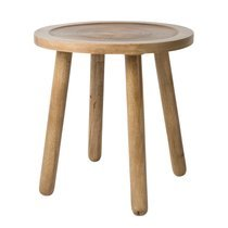 Table d'appoint ronde 43 cm en manguier naturel - DENDRON