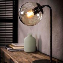 Lampe de table avec abat-jour boule 21x18x39 cm en métal argenté