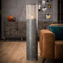 Lampe de sol 25x120 cm en métal effet béton gris
