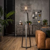 Lampadaire avec abat-jour spirale 40x162 cm en métal - SPIRA