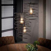 Suspension 3 lampes avec abat-jour spirale en métal - SPIRA
