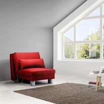 Banquette-lit 80 cm en tissu rouge - OZEN