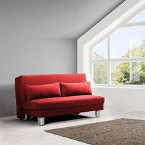 Banquette-lit 140 cm en tissu rouge - OZEN