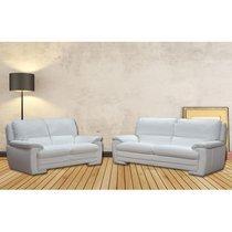 Ensemble de canapé 3 + 2 places en cuir blanc - LIESTEN