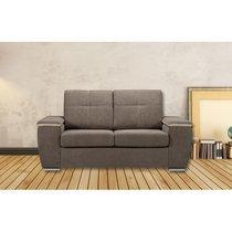 Canapé 2 places fixe en tissu gris - LOMEL