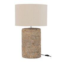 Lampe à poser 42x42x70 cm en coton et béton