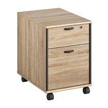Caisson pour bureau 2 tiroirs en chêne sonoma et gris - RAFAEL