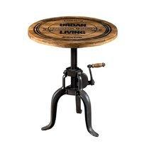 Table d'appoint ronde 55x47 cm en bois et métal noir