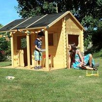 Maison de jardin avec pergola 2,3x2,33x1,7 m en pin