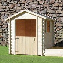 Maison de jardin avec bac à sable 2,33x1,22x1,40 m en pin