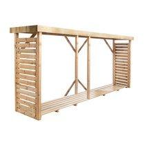 Bucher double en bois 320x89,5x183 cm