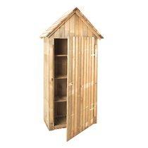 Cabane de jardin en bois avec étagères 93x60x193 cm
