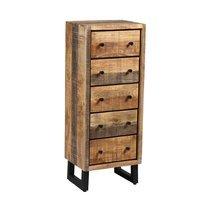 Chiffonnier 5 tiroirs en bois et métal noir - FRISCO